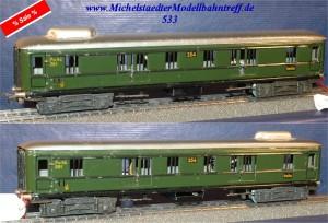 Märklin 354B.5  D-Zug Gepäckwagen beleuchtet, (533)