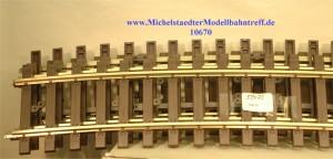 (Neu) Märklin 59073 gebogenes Gleis R 1394mm, 22.5°, (10670)
