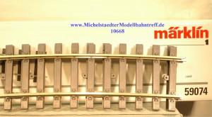 (Neu) Märklin 59074 gebogenes Gleis R 1550mm, 15°, (10668)
