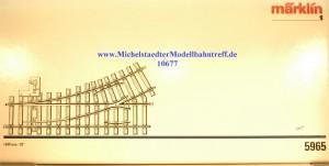 (Neu) Märklin 5965 Handweiche links, R 600mm, 30°, (10677)