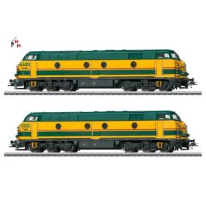 (Neu) Märklin 37602 Diesellok-Doppeltraktion Serie 55 der SNCB, Ep.V,