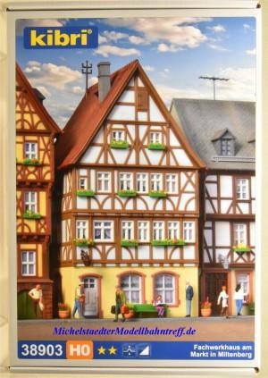 (Neu) Kibri 38903 Bausatz H0, Fachwerkhaus am Markt in Miltenberg,