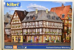 """(Neu) Kibri 38904 H0 Fachwerk Eckhaus """"Miltenberg"""","""