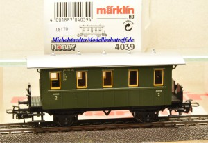 Märklin 4039 Plattformwagen-Privatbahnwagen, (18170)