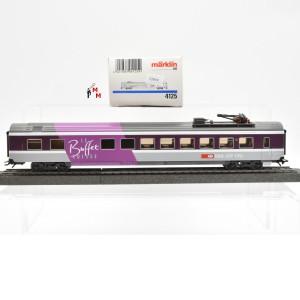 """Märklin 4125.10 D-Zug-Speisewagen der SBB """"Le Buffet Suisse"""", (22419)"""