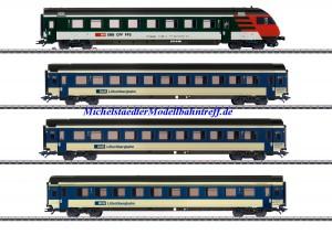 (Neu) Märklin 42175 Schnellzugwagen-Set, 4 versch. Wagen der Lötschbergbahn, Ep.V,