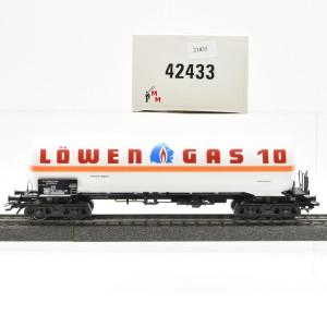 """Märklin 42433 Gas-Kesselwagen """"Löwen Gas 10"""", (21835)"""
