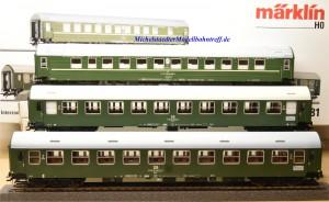 Märklin 42981 Interzonen-Zug DR/DDR, Ep.IV, (3 Wagen), (9643)