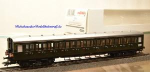 Märklin 43119 Abteilwagen DB mit Schlußlichter, (9854)