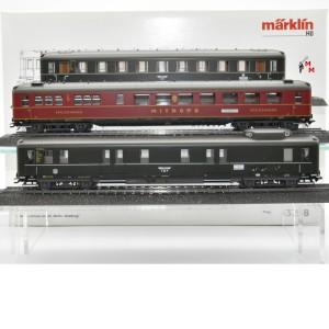 Märklin 43258 Schnellzugwagen-Set Berlin - Hamburg, (21436)