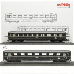 Märklin 43259 Schnellzugwagen-Set Berlin - Hamburg, (21479)