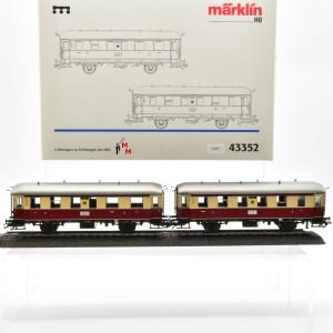Märklin 43352, 2 Beiwagen zu Triebwagen der DRG, (21467)