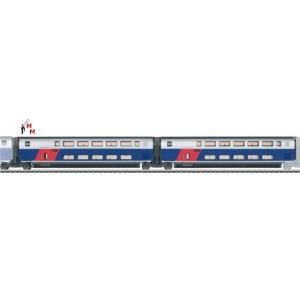 (Neu) Märklin 43423 Ergänzungswagen-Set -1- zum  TGV Duplex,