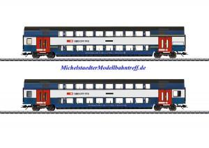 (Neu) Märklin 43574 Doppelstockwagen-Set, S-Bahn Zürich, Ep.VI,