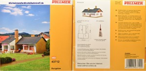 """(Neu) Vollmer 43712 Bausatz """"Bungalow"""","""