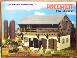 (Neu) Vollmer 43737 Ziegenstall mit Ziegen,