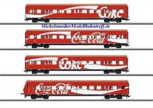 """(Neu) Märklin 43890 S-Bahn Wagenset """"Coca Cola"""", Ep.V,"""