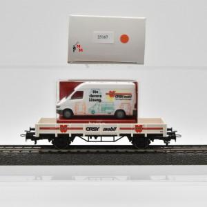 """Märklin 4423/98702 Niederbordwagen """"Würth Orsy mobil"""", mit Lieferwagen, (25167)"""