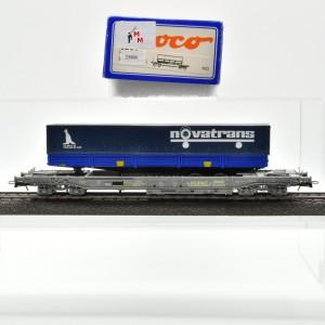 Roco 44311A Einheitstaschenwagen der SBB, mit Auflieger, (25806)