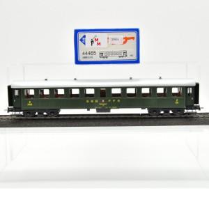 Roco 44465 Stahl-Personenwagen 2.Kl. der SBB, mit Gleich- und Wechstromachsen, (25814)