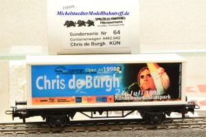 "Märklin 4482.042 (4481/98718) Containerwagen ""Chris de Burgh"", (10099)"