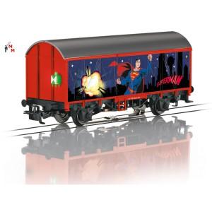 """(Neu) Märklin 44825 Gedeckter Güterwagen """"Superman"""","""