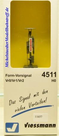 Viessmann 4511 Vorsignal mit Zusatzflügel, 3-begriffig, (11657)