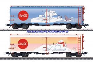 """(Neu) Märklin 45687 US Güterwagen-Set """"Coca Cola"""","""