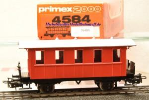Primex 4584 -2achsiger Plattformwagen, Privatbahn, rot, (16486)