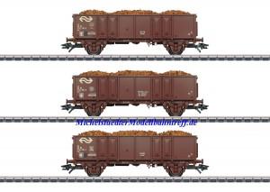 (Neu) Märklin 46019 Hochbordwagen-Set der NS, Ep.IV,