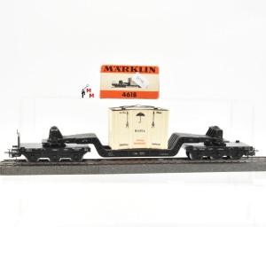 Märklin 4618.3 Tiefladewagen der DB, beladen mit abnehmbarer Kiste, (21734)