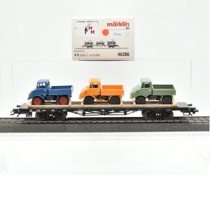 Märklin 46286 Rungenwagen mit 3 Unimog, (20584)