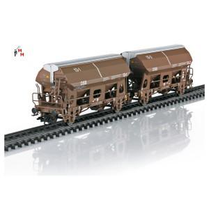 (Neu) Märklin 46309.1 Schwenkdachwagen-Paar einzeln aus Set, der DSB, Ep.V,