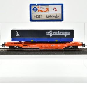 Roco 46354 Einheitstaschenwagender der SNCB, mit Auflieger, (25795)