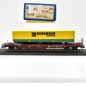 Roco 46356 Einheitstaschenwagen der DB mit Auflieger, (25810)