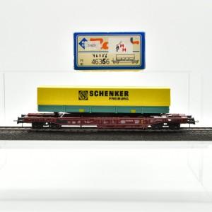 Roco 46356 Einheitstaschenwagen der DB mit Auflieger, (25820)