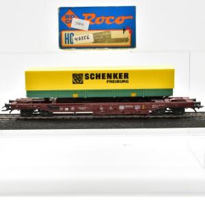 Roco 46356 Einheitstaschenwagen der DB mit Auflieger, (25830)