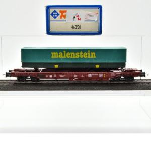 Roco 46358 Einheitstaschenwagen der DB, mit Auflieger, (25803)