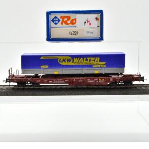 Roco 46359 Einheitstaschenwagen der ÖBB, mit Auflieger, (25793)