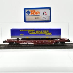 Roco 46359 Einheitstaschenwagen der ÖBB, mit Auflieger, (25794)