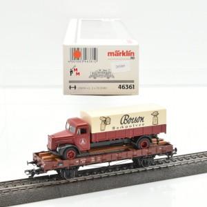 Märklin 46361 Niederbordwagen mit LKW, (20569)