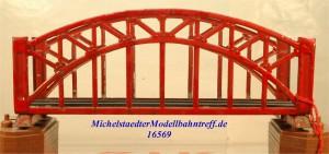 Märklin 467.2 Bogenbrücke, rot, 18 cm, (16569)
