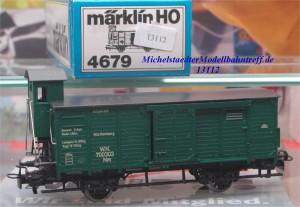 Märklin 4679.1 Ged. Güterwagen mit Bremserhaus, (13112)