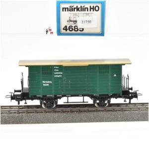 Märklin 4685.1 Ged. Güterwagen mit Flachdach der K.W.Sts.E.B., (21750)