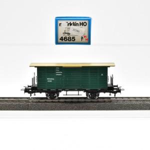 Märklin 4685.1 Ged. Güterwagen mit Flachdach der K.W.Sts.E.B., (25386)