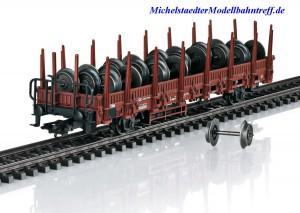 (Neu) Märklin 46938 Rungenwagen mit Beladung, DB, Ep.IV,
