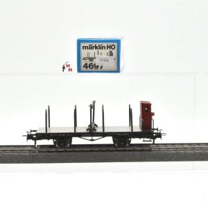 Märklin 4697 Drehschemelwagen mit Bremserhaus, (21114)
