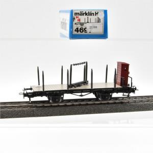 Märklin 4697 Drehschemelwagen mit Bremserhaus, (25388)