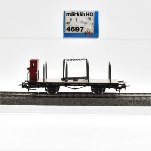 Märklin 4697 Drehschemelwagen mit Bremserhaus, (25389)