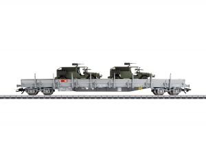 (Neu) Märklin 47068 Niederbordwagen mit 2 Serval, SBB, Ep.V,